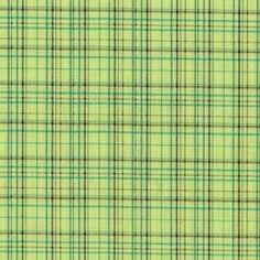 SALE Kiwi Pretty Plaid Cotton fabric from Michael Miller