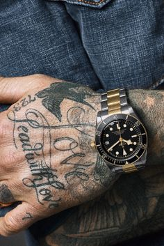 Meet David Beckham, the new ambassador and inspiration behind its campaign. Featured watch - TUDOR Heritage Black Bay S&G - now available at both Schwanke-Kasten Jewelers locations! Weird Tattoos, Arm Tattoos For Guys, Leg Tattoos, Sleeve Tattoos, Tatuajes David Beckham, David Beckham Tattoos, Finger Tattoo Designs, Finger Tattoos, Tibetan Tattoo