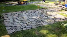 Charmant How To Build A Flagstone Patio In 3 Days HARDER Then It Looks! Funny  Perspective Of Patio Building