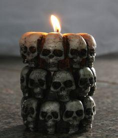 Creative ужасный хэллоуин свечи череп хэллоуин череп свеча хэллоуин ну вечеринку декор бар декор купить на AliExpress