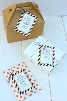 TREAT your teachers! FREE TAGS
