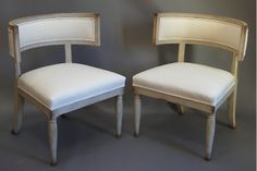 Pair of Swedish Klismos Chairs