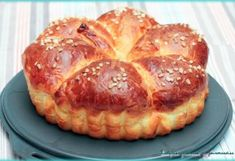 Brioche turban au mascarpone - Quelques Grammes De Gourmandise Muffin, Pie, Bread, Breakfast, Desserts, Turban, Food, Gardens, Eat