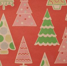Vintage Christmas Wrapping Paper ~ Christmas Trees