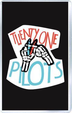 Twenty One Pilots - Plastic Fridge Magnet F