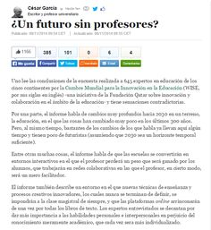 ¿Un futuro sin profesores? / @americanpsique + @elhuffpost | #readytoteach #readytolearn #digitalearning