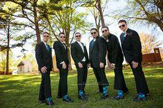 Groomsmen in fancy socks