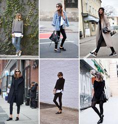 Looks de Inverno com Peças de Verão - sapatos fechados
