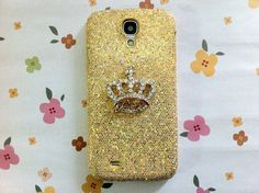 New Chic Luxury Bling Crystal Golden Crown Gold by Mobimoda, $19.99