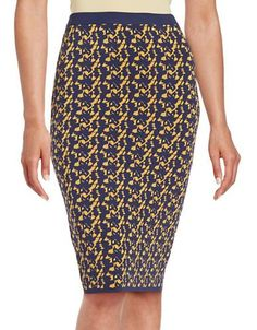 Essentiel Antwerp Kaleidoscope Pencil Skirt Women's Navy Multi Small