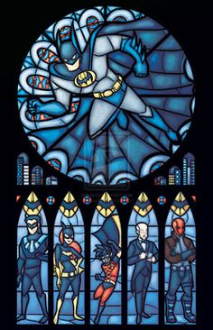 Batman Stained Glass- LOVE it! haha!