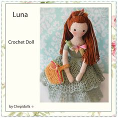 CROCHET DOLL Finished doll collectible doll ♡ by chepidolls on Etsy