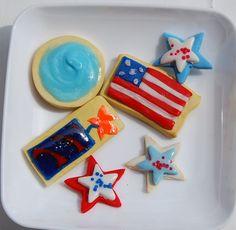 American Girl Doll Food Patriotic Cookies, 4th of July