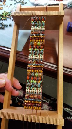 wooden beading loom instructionsYou can find Loom beading and more on our website. Bead Loom Bracelets, Beaded Bracelet Patterns, Jewelry Patterns, Beading Patterns Free, Bead Loom Patterns, Beading Ideas, Beading Projects, Seed Bead Jewelry, Beaded Jewelry