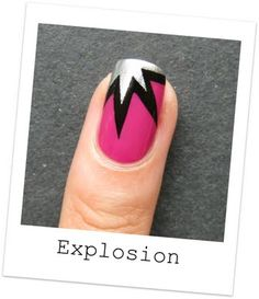 Explosion comic accent nail