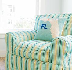 Hooked Heart Florida Pillow
