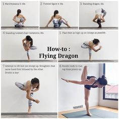 "3,276 mentions J'aime, 79 commentaires - У.Т (@yoga.tutorials) sur Instagram : ""@pinkchampagne13 on Flying Dragon ・・・ For the many peeps who asked how to get into this…"" #yogatutorials"
