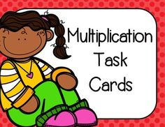 Multiplication task cards are a great way to provide extra practice on basic multiplication facts. This product includes 28 multiplication task cards. An answer key is provided along with a student recording sheet.#MondayMadness