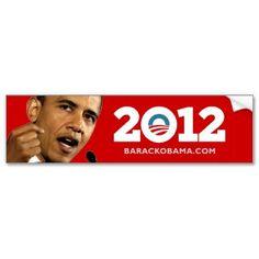I Love Obama 2012 Bumper Sticker