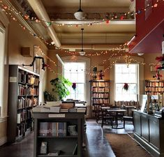 Cafe Interior Design, Cafe Design, House Design, Bookstore Design, Cafe Bookstore, Bar Pub, Cafe Bar, Library Cafe, Book Bar