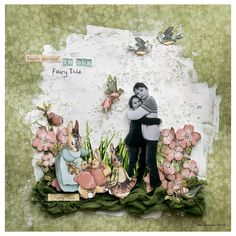 "How to Make Once Upon a Springtime ""My Fairy Tale"" Layout by Brit Sviggum #graphic45"