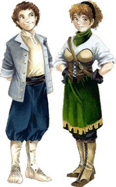 Hamlin and Roslie Brookler, Halfling river boaters.