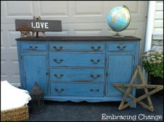 Antique Mahogany Sideboard Makeover: My Miss Mustard Seed Milk Paint Debut