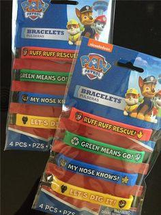 ** Lot of 8 ** PAW PATROL Rubber Bracelet party loot bag fillers favors prizes