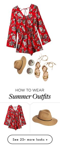 """""""Summer Romper"""" by arilubl on Polyvore featuring Chicnova Fashion, Loeffler Randall, ASOS, Prada, summerstyle, contestentry, fedorahat, summer2016 and summerromper"""
