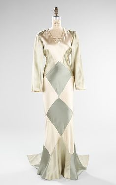 Dress, Evening  Attributed to Jessie Franklin Turner, c1932, silk, Brooklyn Museum Costume collection at MMA
