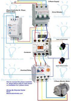 contactor wiring guide for 3 phase motor with circuit breaker rh pinterest com fuji magnetic contactor wiring diagram fuji magnetic contactor wiring diagram pdf