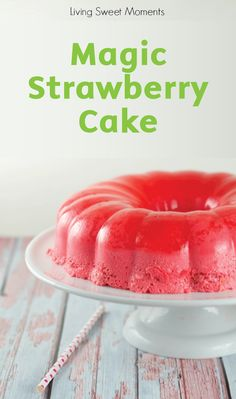 With only 5 ingredients, this easy, no-bake summer cake creates 3 layers of flavor that your family will love! This Magic Strawberry Jello Cake is a fabulous sweet treat that's perfect for enjoying at your next backyard barbecue.