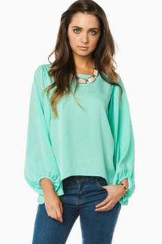 Tracey Blouse In Mint