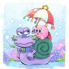Kirby and Escargon. SOOO CUTE ❤❤❤
