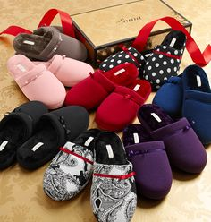 New Plush Scuff Slippers will have you feeling like you're walking on cloud 9 with a cushy feel in irresistible prints and colors to match our Embraceable PJ Collection. My Soma Wish List Sweeps