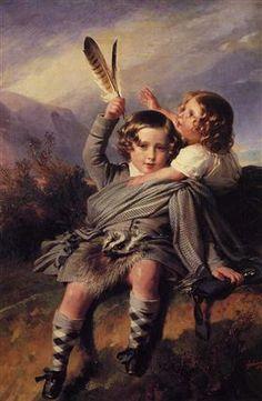 Prince Alfred and Princess Helena - Franz Xaver Winterhalter