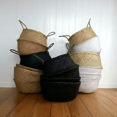 Current Obsession: Seagrass Belly Baskets