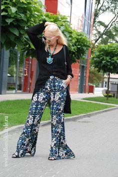 Babooshka Style - Blog modowy: Kwiatowe dzwony Zara - Boho chic