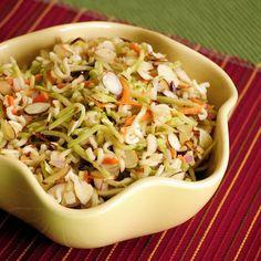Broccoli Ramen Noodle Salad...Love this!  (Secret ingredient is the dried cranberries!)