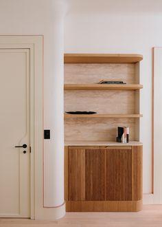 20 Bond New York City Apartment by Home Studios | Yellowtrace Alvar Aalto, New York City Apartment, Apartment Interior, Home Studio, Custom Made Furniture, Furniture Making, Brass Shelving, Maple Floors, Copper Frame