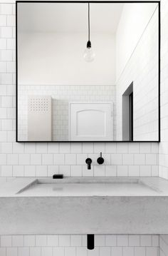 White Bathroom at Kerferd Road House (Source: Clare Cousins Architects; Design…