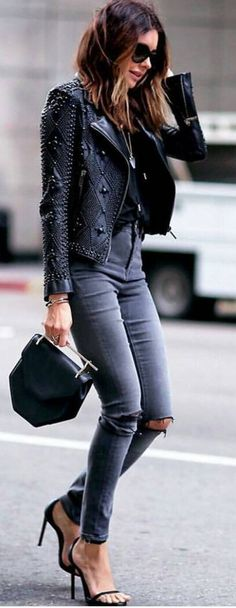 #spring #summer #highstreet #outfitideas | Black On Grey