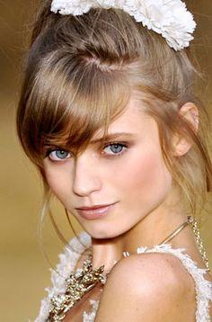 #chanel runway makeup.