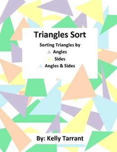 This fun and differentiated sorting activity helps students understand the difference between acute, right, obtuse, equilateral, scalene and isosceles triangles.Included in this activity are:-Headings for acute, right, obtuse, equilateral, scalene, and isosceles-Also includes 9 headings for combination triangles (acute scalene, obtuse isosceles, etc).-Definition cards for all headings-24 sorting cards -Answer key-Teaching tips-Student recording sheet.