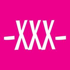 Sticker knalroze -XXX- (10 st.)