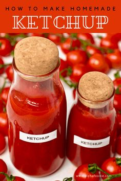 Homemade Ketchup Recipes, Homemade Mayonnaise, Homemade Food, Mason Jar Meals, Meals In A Jar, How To Make Ketchup, Savory Snacks, Food Items