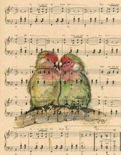 Always In Love Original Watercolor by BlueWhaleArtStudio on Etsy, $49.00