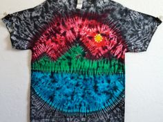Large Mountain Sunset Tie Dye T Shirt!