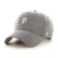 huge discount 6ef97 0e80e San Francisco Giants Monument Salute Clean Up Gray 47 Brand Adjustable Hat
