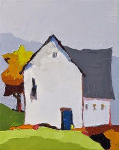 "Daily+Paintworks+-+""The+Blue+Door""+-+Original+Fine+Art+for+Sale+-+©+Donna+Walker"